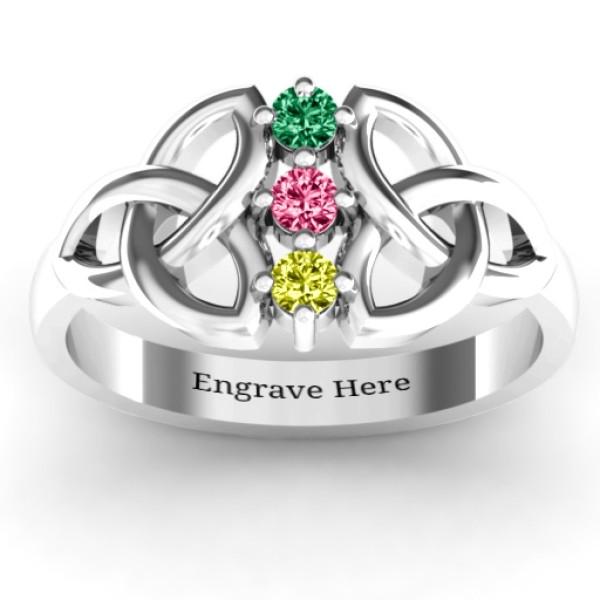 Sláine Celtic Knot Solid White Gold Ring