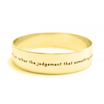 Personalised 15mm Wide Endless Bangle - 18CT Gold