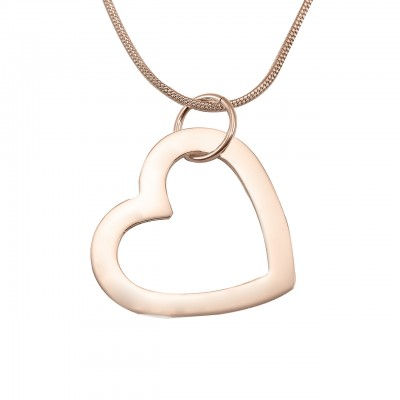 Personalised Always in My Heart Necklace - 18CT Rose Gold