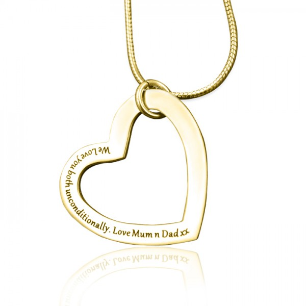 Personalised Always in My Heart Necklace - 18CT Gold