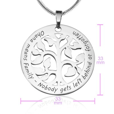 Personalised Ohana Tree - 18CT White Gold *Limited Edition