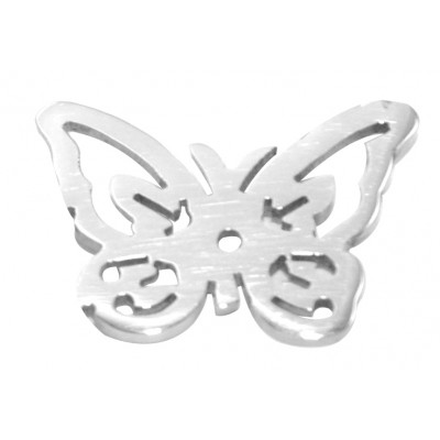 Solid White Gold Butterfly Charm - Dream Locket