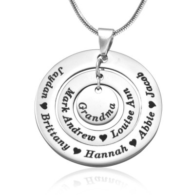Solid WhiteGold Circles of Love Name Necklace