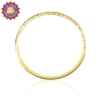 Personalised Classic Bangle - 18CT Gold