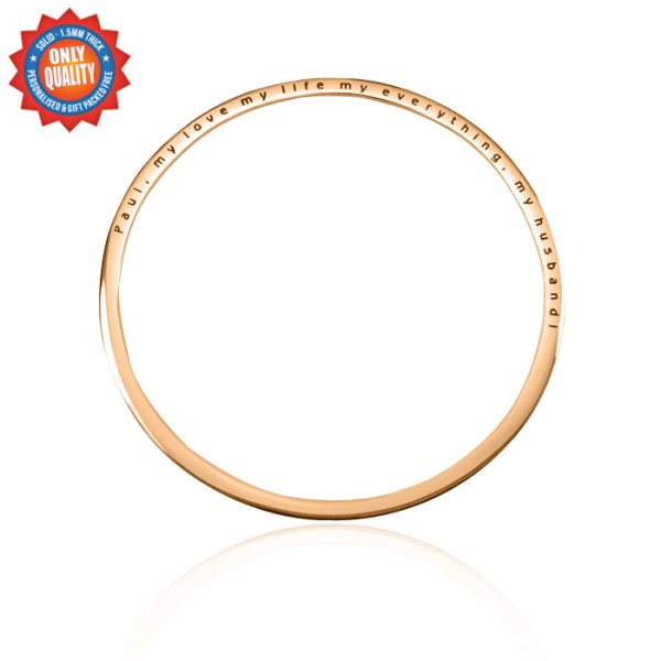 Personalised Classic Bangle - 18CT Rose Gold