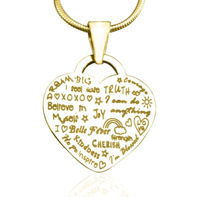 Personalised Heart of Hope Necklace - 18CT Gold
