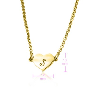 Personalised Precious Heart - 18CT Gold