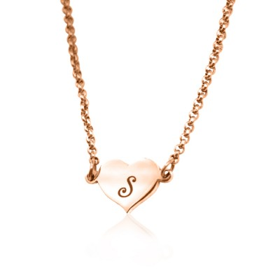 Personalised Precious Heart - 18CT Rose Gold