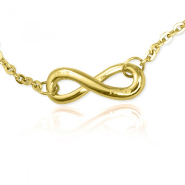 Personalised Classic Infinity Bracelet/Anklet - 18CT Gold