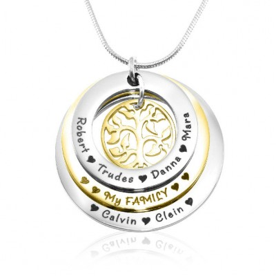 Solid Gold Family Triple Love - Two Tone