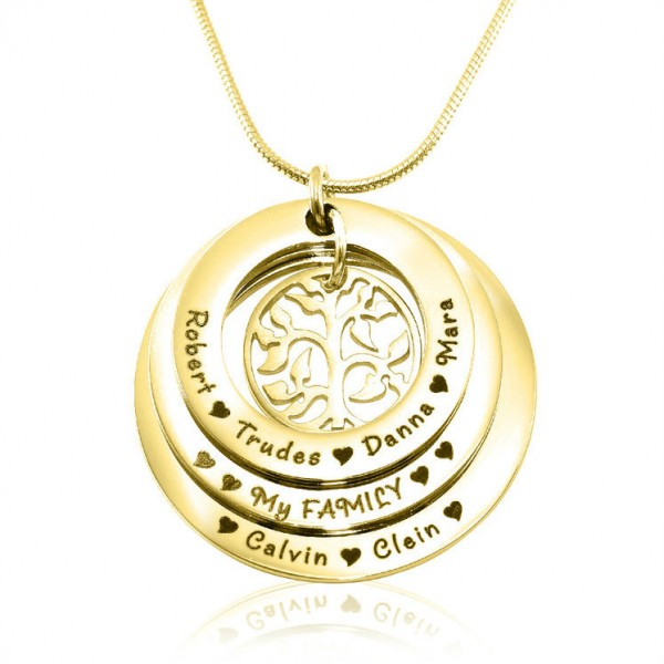 Personalised Family Triple Love - 18CT Gold