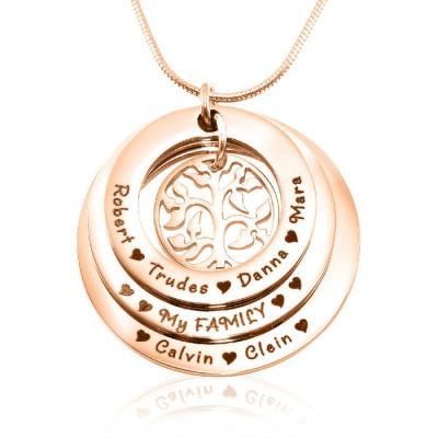 Personalised Family Triple Love - 18CT Rose Gold
