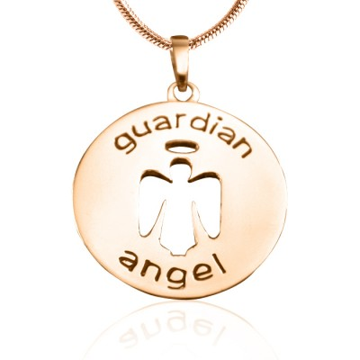 Personalised Guardian Angel Necklace 1 - 18CT Rose Gold