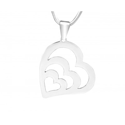 Solid Gold Hearts of Love Necklace -