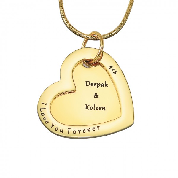 Personalised Love Forever Necklace - 18CT Gold
