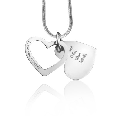 Solid Gold Love Forever Necklace -