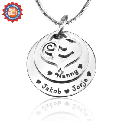 Solid Gold Mother's Disc Double Necklace -