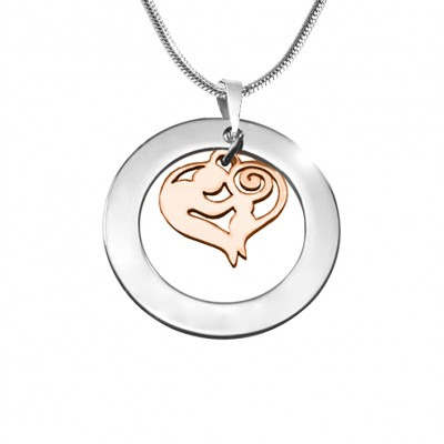 Personalised Mothers Love Necklace - Two Tone - Rose Gold