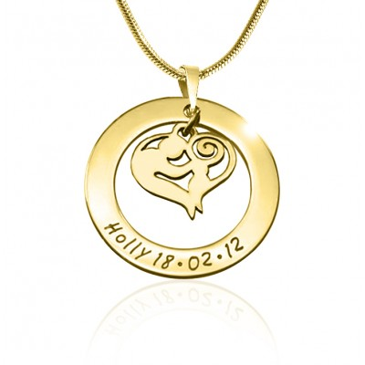 Personalised Mothers Love Necklace - 18CT Gold