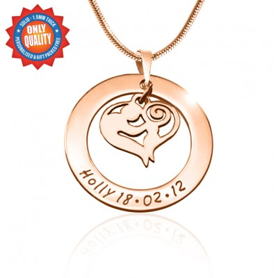 Personalised Mothers Love Necklace - 18CT Rose Gold
