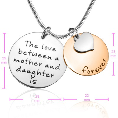 Solid Gold Mother Forever Name Necklace - Two Tone