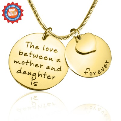 Personalised Mother Forever Necklace - 18CT Gold
