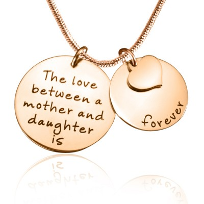 Personalised Mother Forever Necklace - 18CT Rose Gold