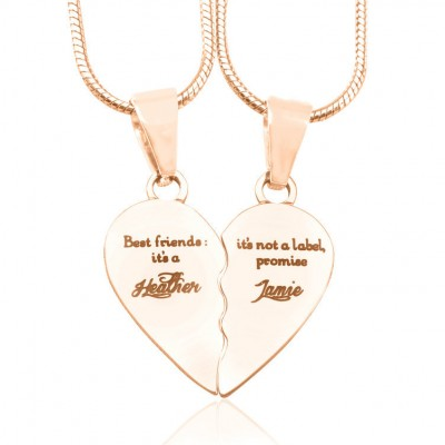 Personalised My Bestie Two Personalised 18CT Gold Necklaces