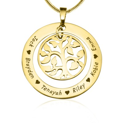 Personalised My Family Tree Necklace - 18CT Gold