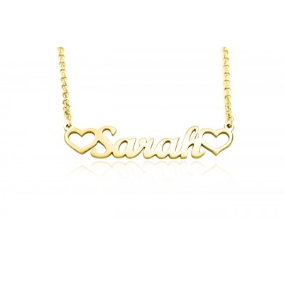 Personalised Name Necklace - 18CT Gold