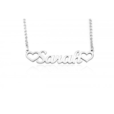 Solid Gold Name Necklace -