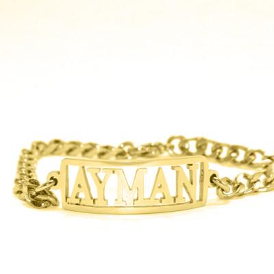 Personalised Name Bracelet/Anklet - 18CT Gold