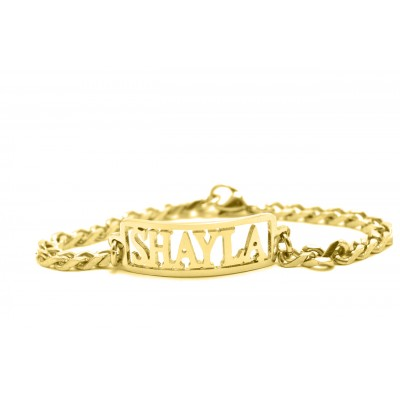Personalised Name Bracelet/Anklet - 18CT Gold