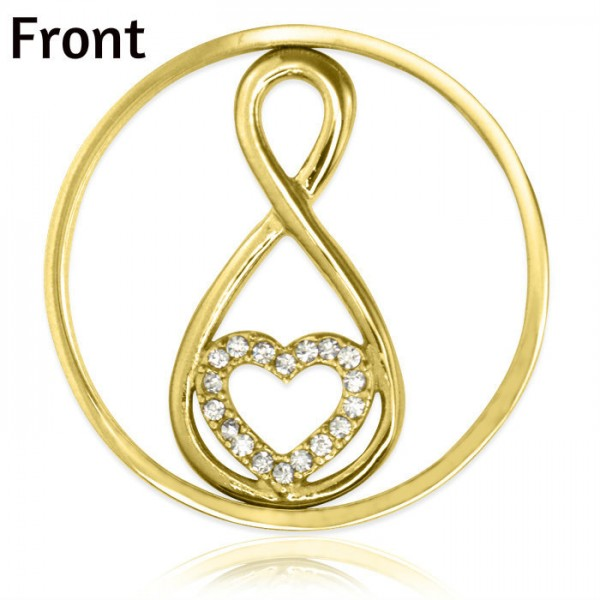 Personalised Gold Infinity - Diamonte INSERT ONLY
