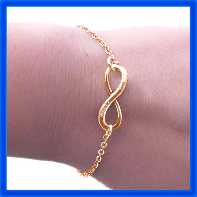 Personalised Classic Infinity Bracelet/Anklet - 18CT Rose Gold