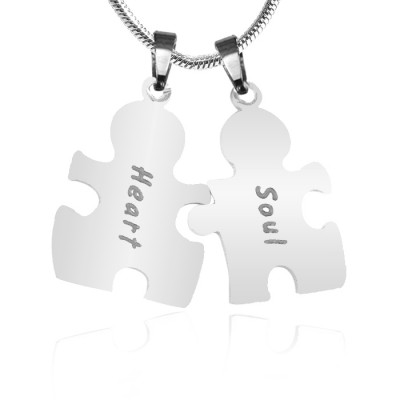 Solid Gold Puzzle Necklace -