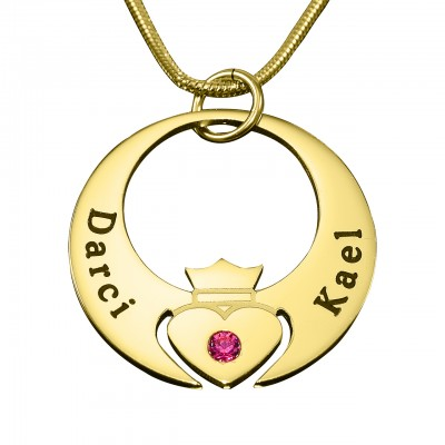 Personalised Queen of My Heart Necklace - 18CT Gold