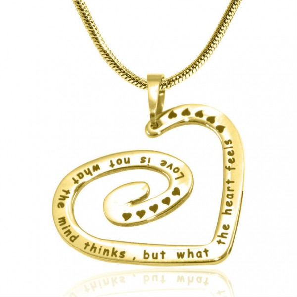 Personalised Swirls of My Heart Necklace - 18CT Gold