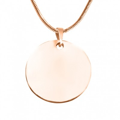 Personalised Swirls of Time Disc Necklace - 18CT Rose Gold