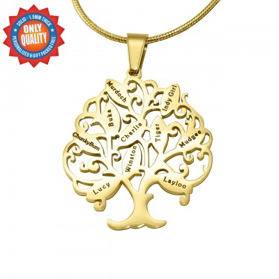 Personalised Tree of My Life Necklace 10 - 18CT Gold