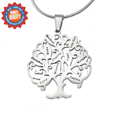 Solid Gold Tree of My Life Necklace 10 -