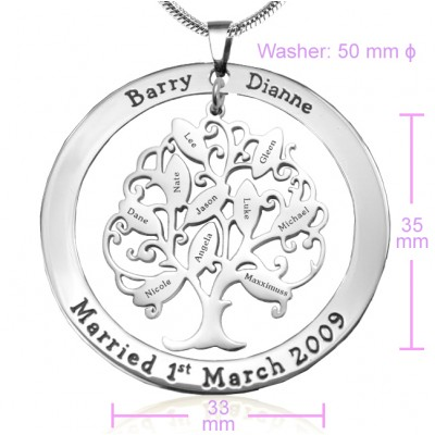 Solid Gold Tree of My Life Washer Necklace 10 -