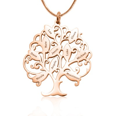 Personalised Tree of My Life Necklace 10 - 18CT Rose Gold