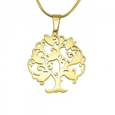 Personalised Tree of My Life Necklace 7 - 18CT Gold