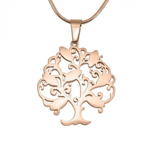 Personalised Tree of My Life Necklace 7 - 18CT Rose Gold