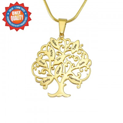 Personalised Tree of My Life Necklace 9 - 18CT Gold