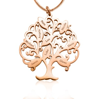 Personalised Tree of My Life Necklace 9 - 18CT Rose Gold