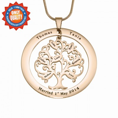 Personalised Tree of My Life Washer 8 - 18CT Rose Gold