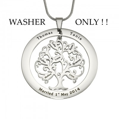 Solid White Gold ADDITIONAL Tree of My Life WASHER ONLY