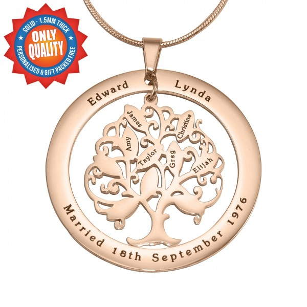 Personalised Tree of My Life Washer 10 - 18CT Rose Gold